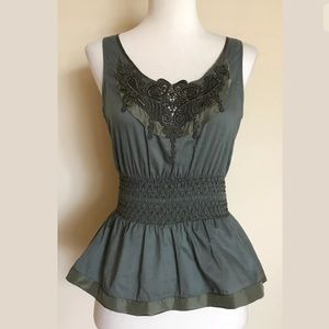 Anthropologie Fei Lace Sleeveless Top